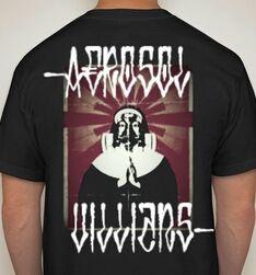 Gasmask Virgin Mary T-shirt - Aerosol Villians