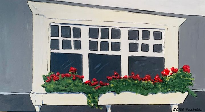Grandma's Window Box - Elise's Art Page - Art by Elise Palmer