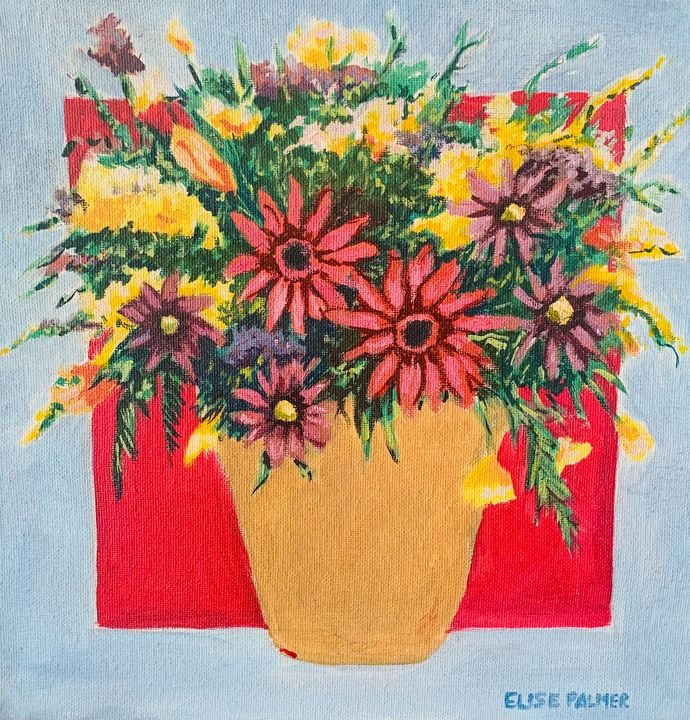 """""""Potted Blooms"""" - Elise's Art Page - Art by Elise Palmer"""