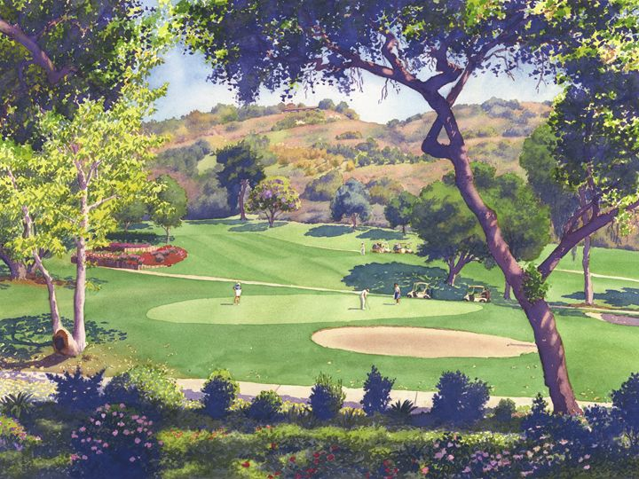 Pala Mesa Golf Course - Mary Helmreich California Watercolors