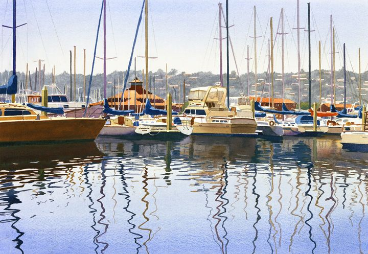 San Diego Yacht Club - Mary Helmreich California Watercolors