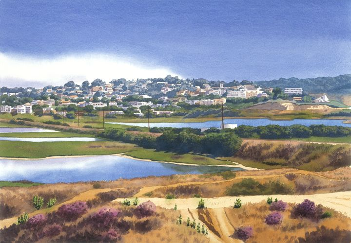 San Elijo & Manchester Ave - Mary Helmreich California Watercolors
