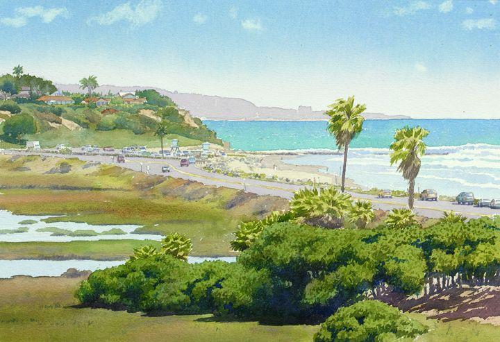 Solana Beach California - Mary Helmreich California Watercolors