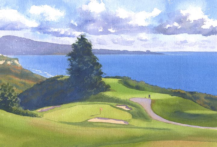 Torrey Pines Golf Course #1 - Mary Helmreich California Watercolors