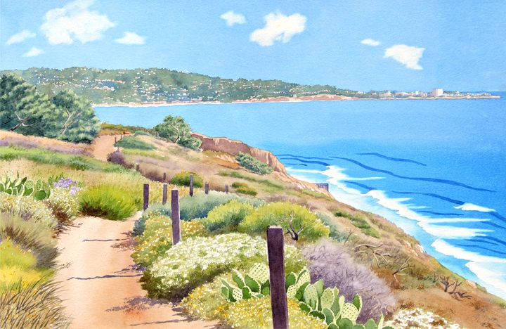 Torrey Pines and La Jolla - Mary Helmreich California Watercolors