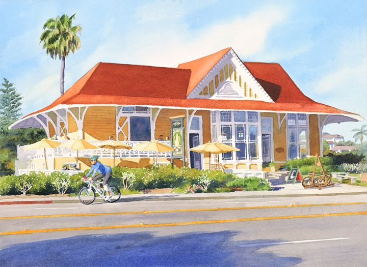 Pannikin Encinitas - Mary Helmreich California Watercolors