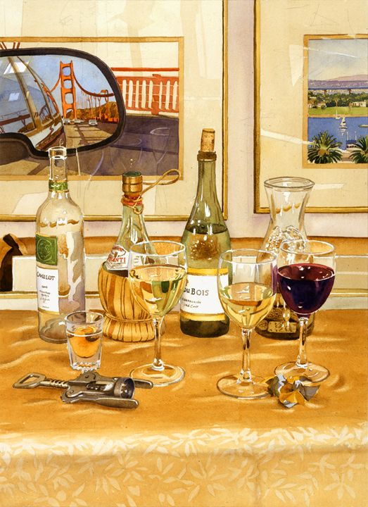 California Wine And Watercolors - Mary Helmreich California Watercolors