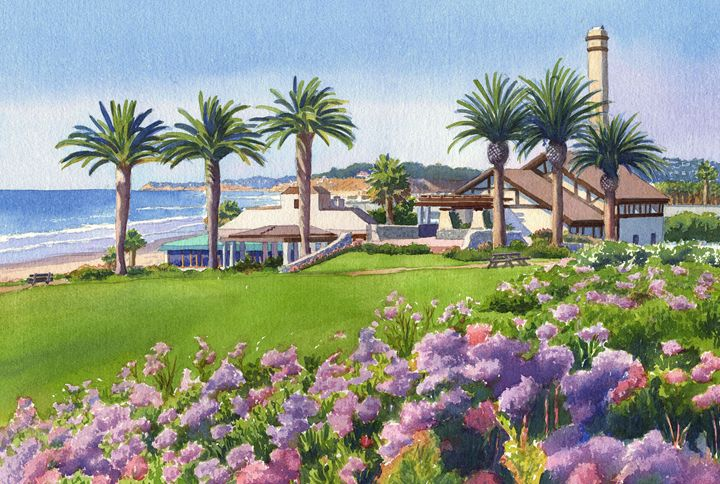 Community Center Del Mar - Mary Helmreich California Watercolors