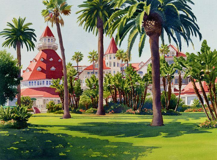 Hotel Del Coronado - Mary Helmreich California Watercolors