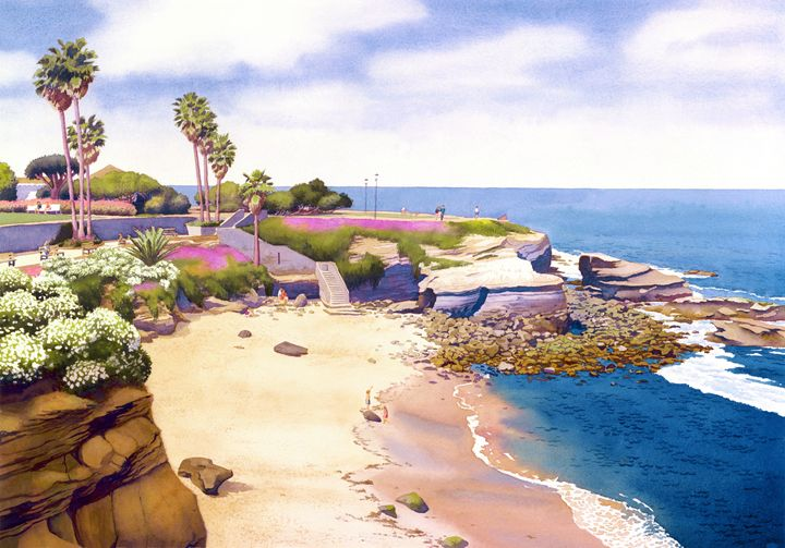 La Jolla Cove - Mary Helmreich California Watercolors
