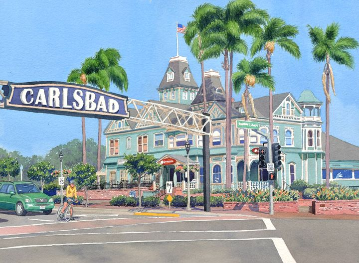 Carlsbad Califorrnia - Mary Helmreich California Watercolors