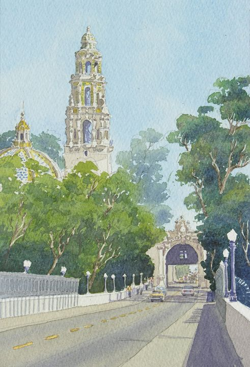 Museum of Man Balboa Park - Mary Helmreich California Watercolors
