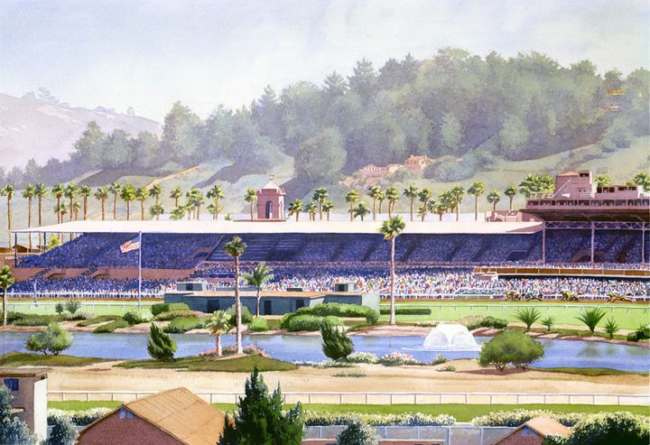 Old Del Mar Race Track - Mary Helmreich California Watercolors