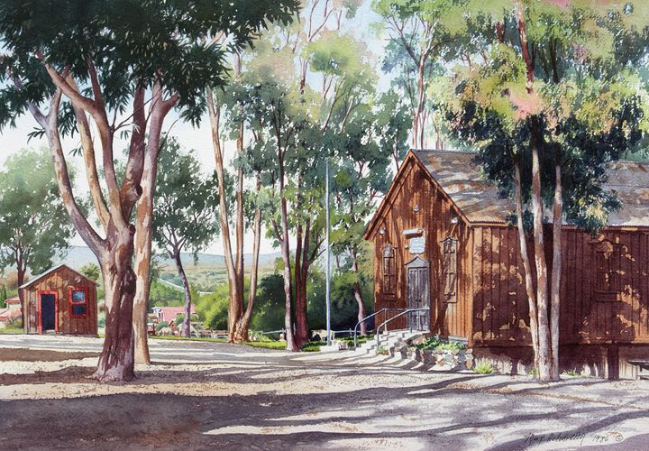 Olivenhain Meeting House - Mary Helmreich California Watercolors