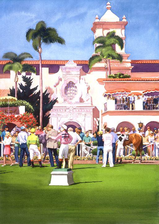 Paddock at Del Mar - Mary Helmreich California Watercolors