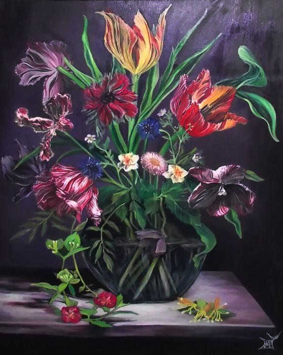 Spring Bouquet still life - Safir & Rifas Art