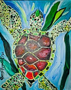 Fanje Taking It Cool and Easy - Cheryl Reynolds Art