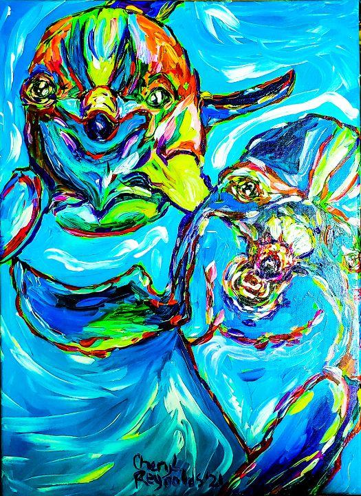 Playful Chums - Cheryl Reynolds Art