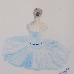 Ballerina in Blue - Welcome to Bentivegna Art