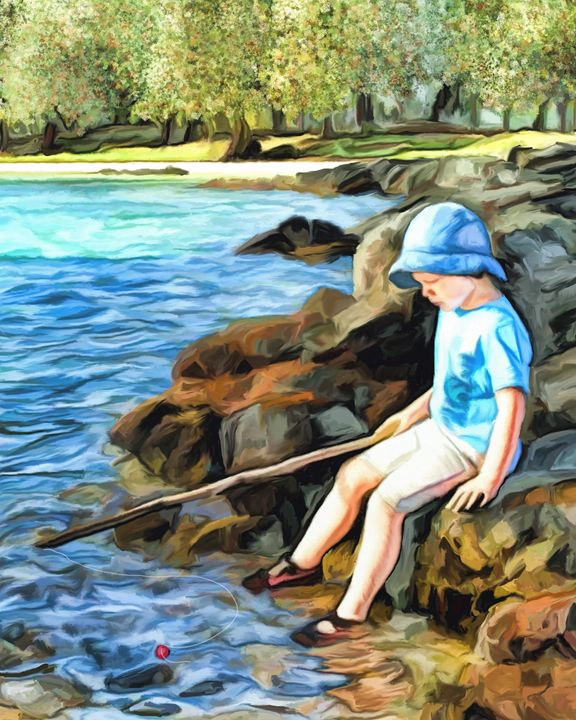 Wishing for Fish - Vision Fine Art
