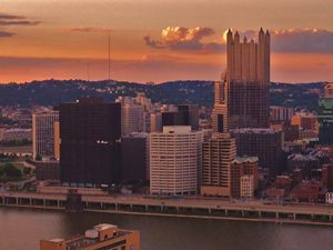 Pittsburgh Skyline Sunset