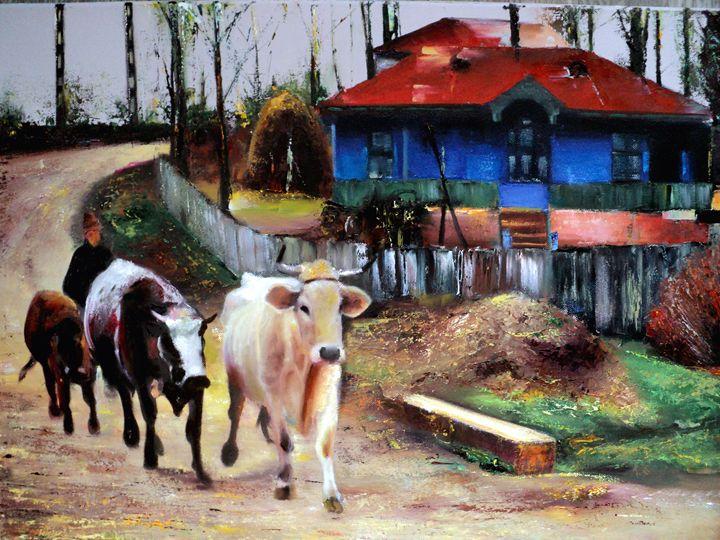 AUTHENTIC ROMANIAN LANDSCAPE - PAINTINGS by NELU  GRADEANU