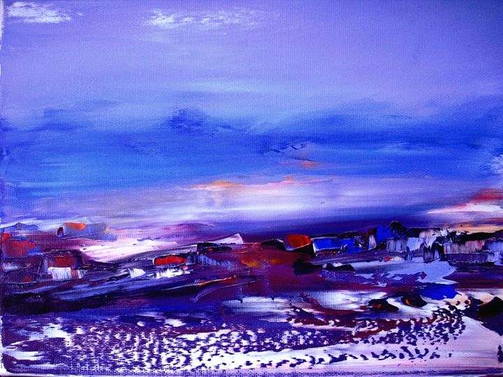 ABSTRACT LANDSCAPE - PAINTINGS by NELU  GRADEANU