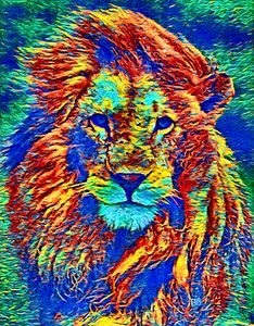 Woke Lion 13 Abstract