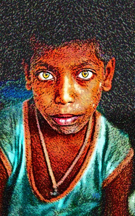 Street Kid - India Portrait - Howard Benjamin Fine Art
