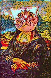 Wow Meow Mona Lisa Kitty Cat