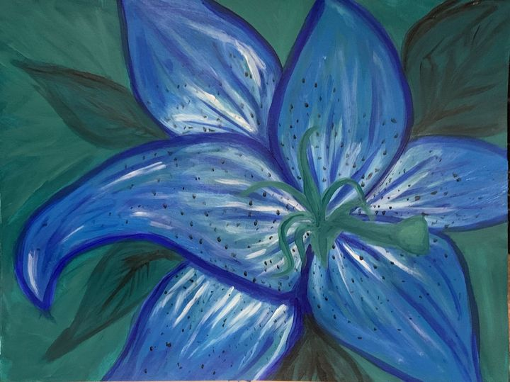 Blue Lily - Thegirlwho_paints