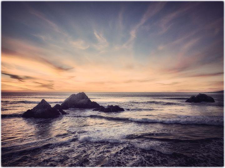 Sunset at Seal rocks - Edward Maesen