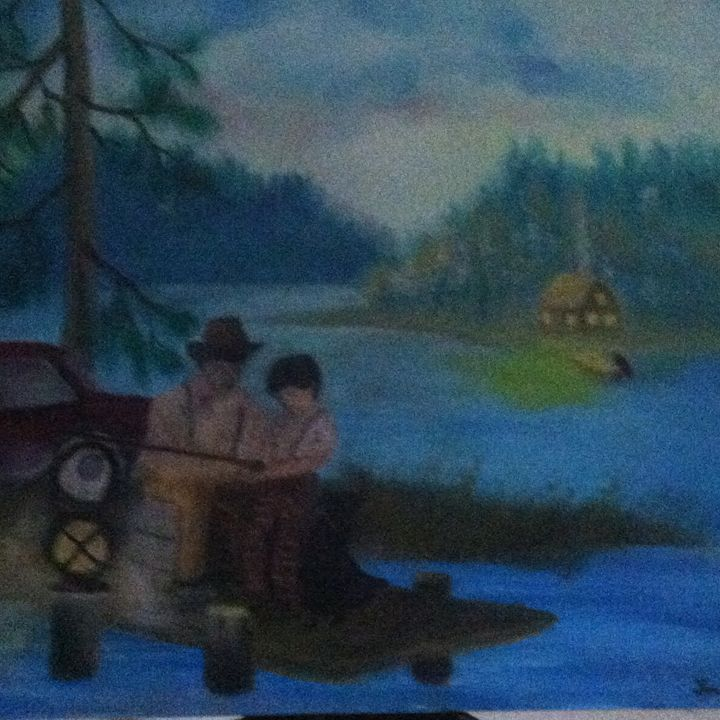 Night Fishing with PAPA - Heart Warmth Gallery