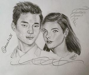Kim Soo Hyun and Kaya Scodelario ♡
