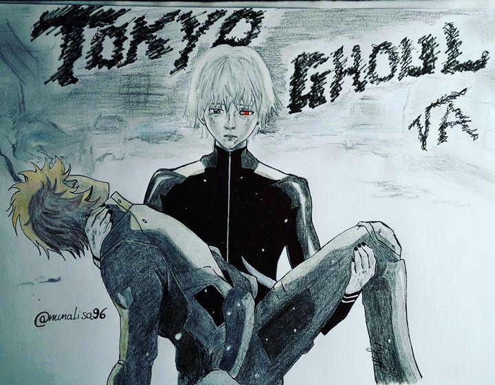 Hide & Kaneki - Tokyo Ghoul re - MunalisaArt