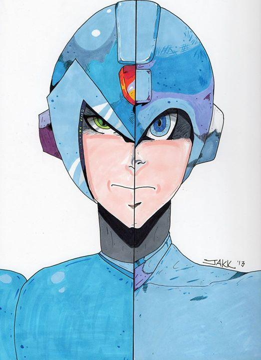 Megaman X/Megaman - Jakk Cutlip ART