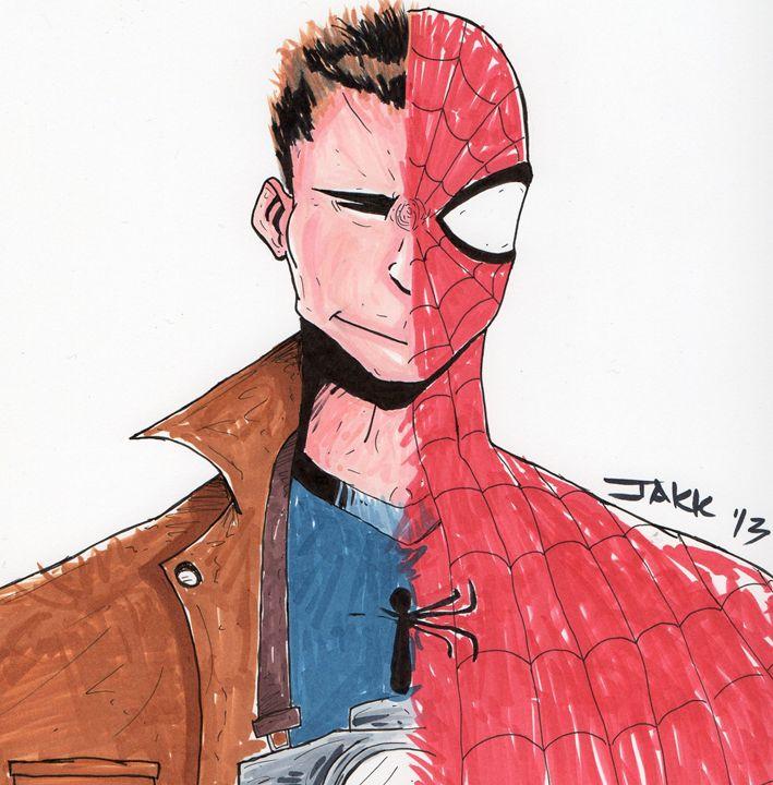 Spiderman/Peter Parker - Jakk Cutlip ART