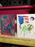 Original paining by 5 year old