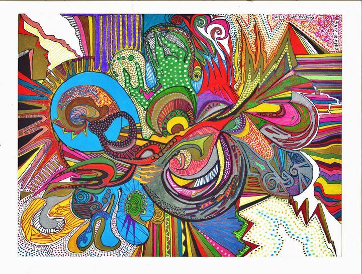 King of Zing - Inksanity by Helen Bird art