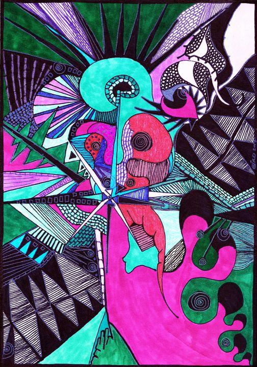 Turquoise Dreams - Inksanity by Helen Bird art