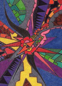 Purple people eater - Inksanity by Helen Bird art