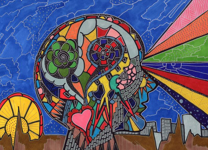 The Psychedelic Muse - Inksanity by Helen Bird art