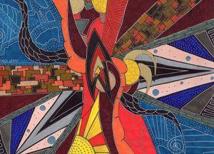 Through a wormhole - Inksanity by Helen Bird art