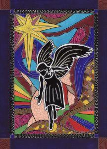 Christmas Angel - Inksanity by Helen Bird art