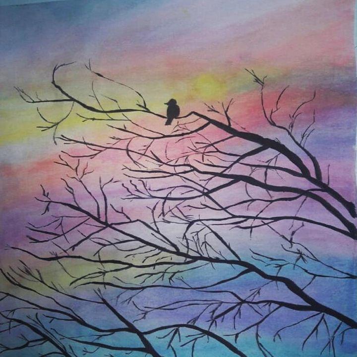 Sunset_Bird - Abo_Arts