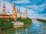 Painting oil Spanish Zaragoza