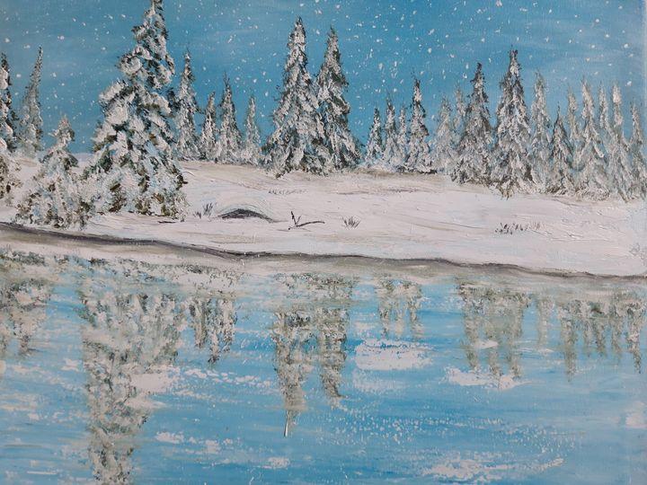winter landscape, Reflections ,, - Valentine Kostadinova