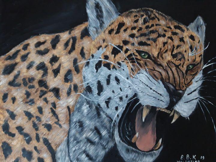 Oil painting original jaguar - Valentine Kostadinova