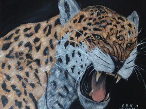 Oil painting original jaguar
