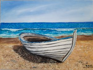 "oil painting ""Old fishing boat"""